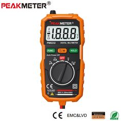 Official PEAKMETER New Hot Sale Non-Contact Mini Digital Multimeter DC AC Voltage Current Tester PM8232 Ammeter Multi tester  Price: 9.99 USD