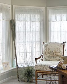 Sand Shell Crush Lace Curtains