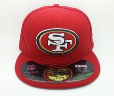 SAN FRANCISCO 49ERS NFL NEW ERA 59 FIFTY FITTED HAT/CAP (SIZE 7 3/8) -- NEW #NEWERA59FIFTY #SanFrancisco49ers