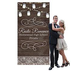 Rustic Romance Custom Photo Booth Background