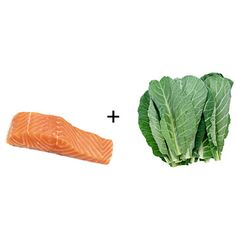 Salmon   collard greens: Teaming up two superfoods may be better than one when it comes to eating a balanced diet.