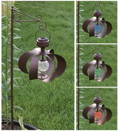 This 12in. wind spinner with hook features a crystalline solar panel and a color-changing LED to put a magical spin on your yard, garden or patio. This beauty emits a continuous pattern of red, green and blue light, lending a bright, cheery ambiance to any exterior setting, even on the stillest days.