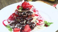 Hướng dẫn làm món bánh Pancake hoa quả thơm lừng  Tag bạn bè cùng thưởng thức nhé <3  Food Recip  ↩