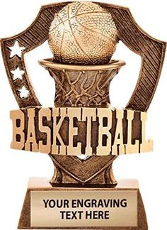 Crown Awards Shieldz Basketball Sculpture Trophy, Custom Resin Basketball Trophies with Personalized Engraving Prime Basketball Trophies, Basketball Jewelry, Basketball Players, Trophy Cup, Trophy Design, Infinity Jewelry, Game Logo, Sculpture, Awards