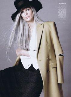 stunning gray hair.