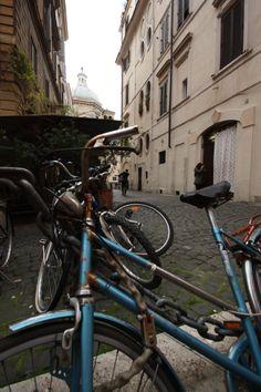 #Bike in Piazza Madonna dei Monti, #Rome #RioneMonti #Blue #Street #bicycle