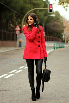 jacket and leather leggings Fall Winter Outfits, Winter Wear, Autumn Winter Fashion, Beautiful Outfits, Cute Outfits, Trendy Taste, Autumn Street Style, Fashion Outfits, Fashion Trends