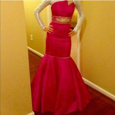 Hot Pink Mermaid Dress