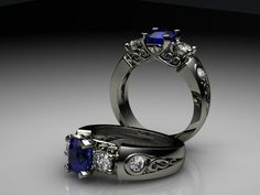A beautiful engagement ring created for our customer using her old diamonds.