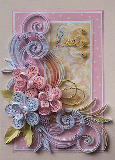 Neli Quilling Art: Quilling card - ( 10.5 cm - 15 cm ) ♡