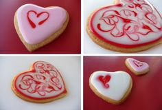 Glazed Valentine Cookies from ourbestbites.com!  These are the best sugar cookies...EVER...I will never use any other recipe for sugar cookies...love, love these