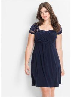 Jerseykleid mit Spitze, BODYFLIRT, dunkelblau