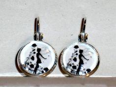 Damen Ohrschmuck Modeschmuck Hänger Glas Schnappverschluss Ohrringe Elfe