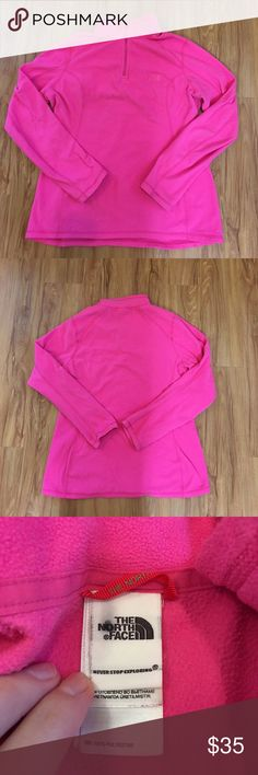 The North Face Half Zip Fleece size XL Normal and wash wear, label inside is smudged as shown, women's XL-Please don't discuss prices in my listing. Reasonable offers welcome always. The North Face Tops Sweatshirts & Hoodies