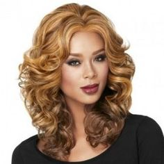 BG New Fashion Charming Hair Wigs Women Party Sexy Full Hair Wig Human Hair Curly Wigs Natural Looking Wigs 1 Free Wig Cap >>> Check out the image by visiting the link. (This is an affiliate link) Wig Styles, Curly Hair Styles, Natural Hair Styles, Curly Wigs, Long Curly Hair, Hair Wigs, Casual Curls, Hair Rainbow, Lux Hair