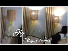 FAÇA VOCÊ MESMO | Abajur de chão! (Lidy Artesanato) - YouTube