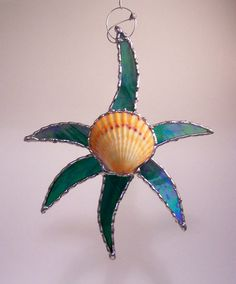 Stained Glass Star suncatcher ornament with by PineTreeGlassWorks, $28.00