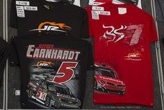 JR Motorsports  - new Jeffery Earnhardt  #5 and Regan Smith #7 t-shirts at the Merchandise trailer. Richmond