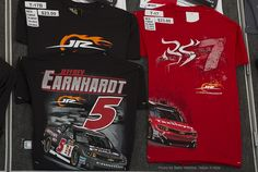 JR Motorsports  - new Jeffery Earnhardt  #5 and Regan Smith #7 t-shirts at the Merchandise trailer. Richmond