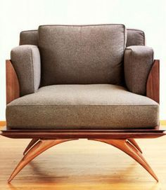 Art Deco period 1925-1940's this is similar to the Ruthman chair it represented elegance and the tips of the ends of the legs are somewhat pointy. It's easy to see how Mid century modern design evolved. https://emfurn.com/