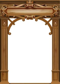 Wooden classic vintage arch Banner Clip Art, Wooden Arch, Arched Doors, Sculpture, Door Design, Vector Graphics, Wood Carving, Les Oeuvres, Facade