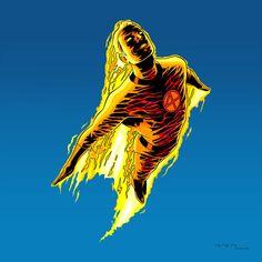 The Human Torch 1966 (Johnny Storm) by arunion on DeviantArt Superhero Villains, Marvel Characters, Marvel Dc, Scott Menville, Detective, Netflix Marvel Shows, Fantastic Four Marvel, Arte Nerd, Absorbing Man