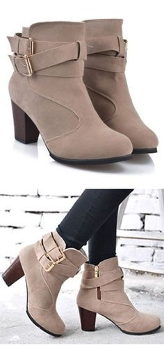 Buckle Ankle Boots :heart:︎