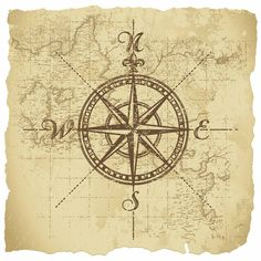 vintage compass design - I could add to my compass