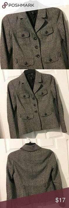 BLAZER Very cute blazer for work or dress or jeans! Very stylish. Button front. W/4 little pockets.  Lining is polyester.from shoulder to bottom is 22 1/2 inches. Mossimo Supply Co Jackets & Coats Blazers
