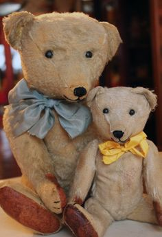 Old Teddy Bears from Suomenlinna Toy Museum collection, Helsinki, Finland