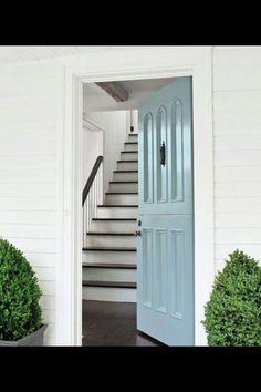 Duck egg front door