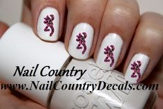 50pc Country Pink Camo Deer Pink Realtree Nail Decals Nail Art Nail Stickers Best Price NC194