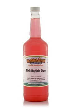 Pink Bubble Gum Shaved Ice and Snow Cone Syrup - Quart