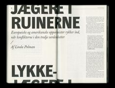 Stefan Thorsteinsson – Typographic layout for Lettre Internationale No. Magazine Layout Design, Book Design Layout, Print Layout, Magazine Layouts, Web Design, Page Design, Typography Layout, Graphic Design Typography, Lettering