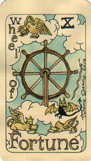 X. Wheel of Fortune: Dame Darcy's Mermaid Tarot
