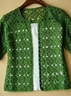 Cardigan crochet vert Kingdom Crochet Kingdom - Cardigan crochet vert Kingdom Crochet Kingdom Vous êtes à la bonne adresse pour diy crafts Nous re - Gilet Crochet, Crochet Cardigan Pattern, Crochet Jacket, Crochet Blouse, Crochet Shawl, Crochet Stitches, Knit Crochet, Lace Cardigan, Stitches