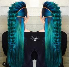 71 ideas for green hair dyes that you will love - hair - Hair Styles New Braided Hairstyles, Pretty Hairstyles, Braided Updo, Updo Hairstyle, Latest Hairstyles, Hairstyle Ideas, Fantasy Hairstyles, Faux Hawk Hairstyles, 40s Hairstyles