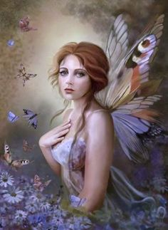 Resting with the Butterfly Fairy •✤• »☜♡☞« •✤•