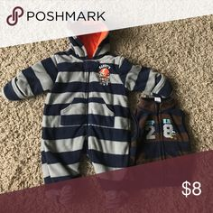 3 month snowsuit Cozy warm snow suit and fleece vest. Tag is 3 months but easily fits up to 9 months. Excellent used condition! Bundle more listings to save! One Pieces