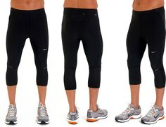 Nike Dri Fit Capri Pants. These are awesome for running in 50 degree+ weather.