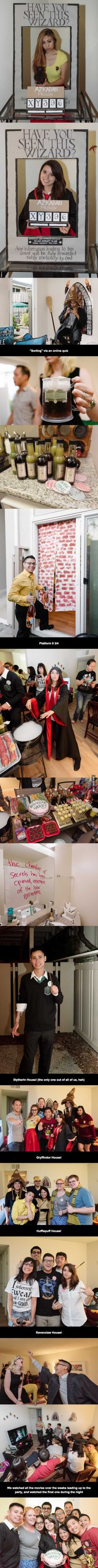 Just a Harry Potter birthday party for adults. I want to be friends with these people!