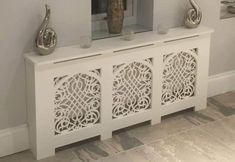 Handmade in the UK. Standard and Bespoke Custom Cabinets available. Gothic Style with Baroque Grille. French, Shabby Chic style also available. Decor, Chic Interior Design, Radiator Cover, Home Decor, Country House Decor, Shabby Chic Furniture, Shabby Chic Room, Shabby Chic Kitchen, Decorative Radiators
