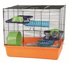 Jaula Hamster plegable 40x38x30 cms. naran/az/verde TRIXIE: Amazon.es: Deportes y aire libre