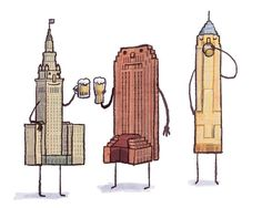 Just some chums drinking some Elliot Ness from GLBC.  #Cleveland #prints #etsy