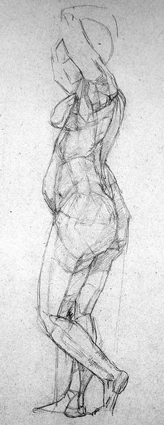 Giacometti / Drawn / Drawing / Woman / Body / Figure.