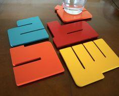 Kashida: Arabic letters coasters