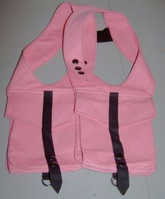 DW Unisex Pink Canvas Double Holster Bag 32-34  ON SALE