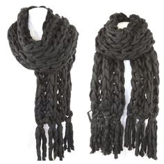 "Handmade Black Heavy Knit Sweater Yarn Scarf ‼️PRICE FIRM‼️   Handmade Cable Knit Scarf  Retail $140  BEYOND SPECTACULAR!  Make a true fashion statement with this absolutely gorgeous and ridiculously soft handmade scarf.  Beautiful & versatile black.  This is a very thick & chunky scarf.  100% acrylic. Please check my closet for many more items.  86"" long  11"" wide Boutique Accessories Scarves & Wraps"
