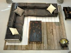 Repurposed military grade industrial couch h o m e Pinterest