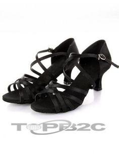 Chaud noir 2 Satin 1/5'' haut talon Womens latine Shoes      Groupe: Femme     Occasion: Danse latine     Hauteur de Talon: 5.5cm     Type de Talon: Bobine     Bout de Chaussures: Ouvert     Couleur affichée: Noir     Poids: 1kg